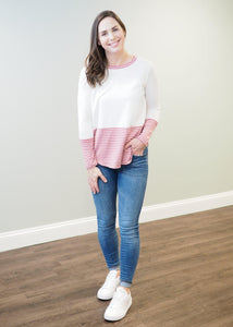 Charlotte Color Block Striped Top | Sisterhood Style
