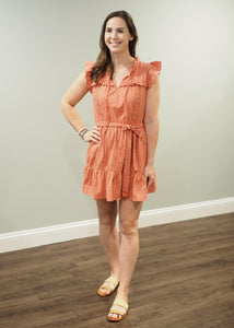 Lynn Ruffle Dress in Clay | Sisterhood Style