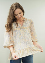 Load image into Gallery viewer, Phoebe Peach Mixed Print Top | Sisterhood Style