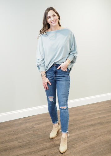 Ramona Ribbed Top in Sage | Sisterhood Style