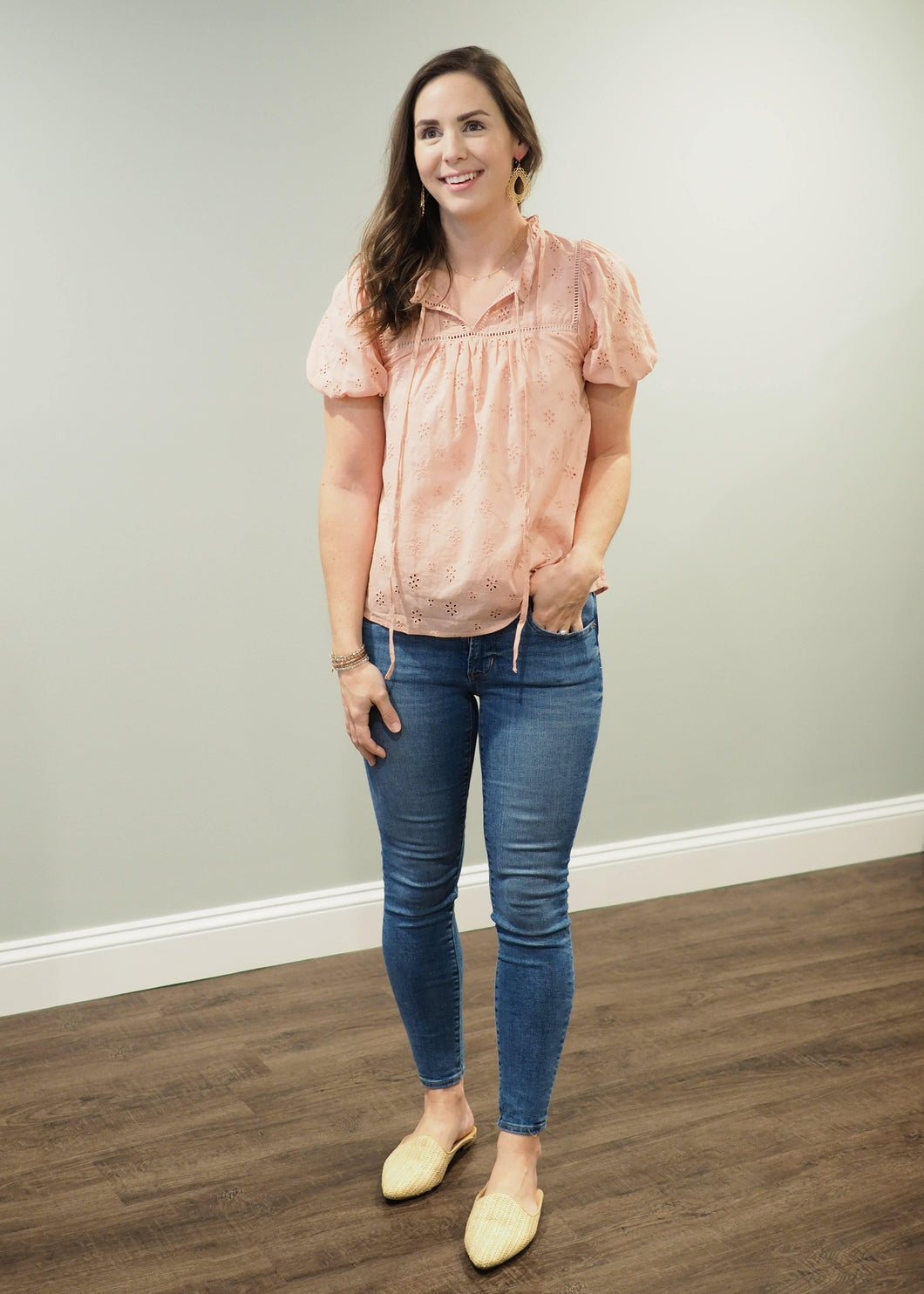 Rosalie Dusty Rose Eyelet Top | Sisterhood Style
