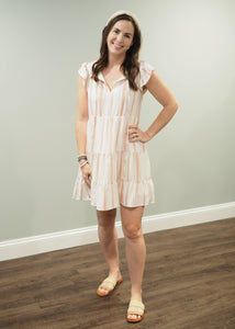Tess Striped Tiered Summer Dress | Sisterhood Style