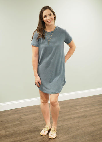 Tyler Teal French Terry Dress | Sisterhood Style