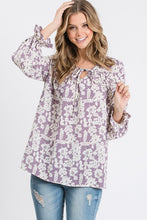 Load image into Gallery viewer, Lilith Lilac Floral Blouse | Sisterhood Style