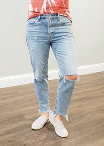 Monica Distressed Mom Jeans | Sisterhood Style
