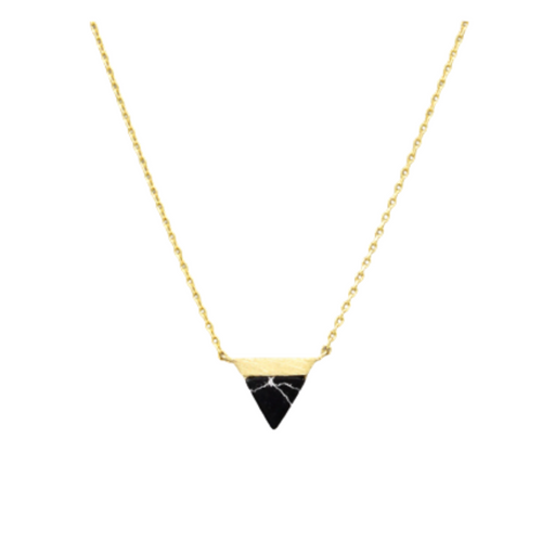 Talia Triangular Marble Necklace | Sisterhood Style
