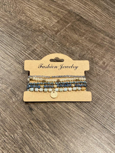 Delicate Beaded Bracelet Stack Set - Sisterhood Style