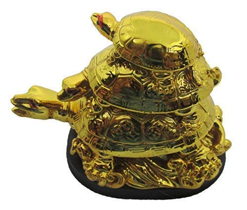Feng Shui 3 Tier Tortoise -Symbol of Longevity - CRAFT WORLD INDIA