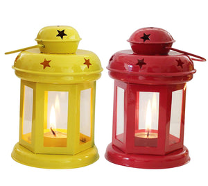 Diwali best selling item set of 2 home decor laltern lamp with candle light holders - CRAFT WORLD INDIA