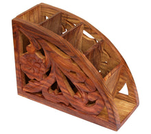 Load image into Gallery viewer, Wooden Remote Control Storage Holder Stand Organizer Rack - CRAFT WORLD INDIA