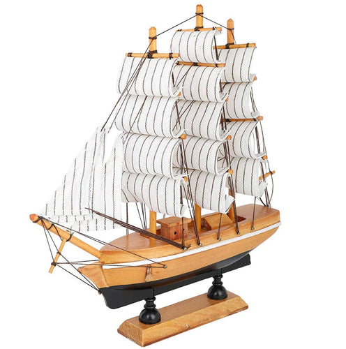 Decorative wooden Sailing Ship Showpiece (17x5x17cm) - CRAFT WORLD INDIA