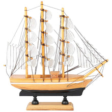 Load image into Gallery viewer, Decorative wooden Sailing Ship Showpiece (17x5x17cm) - CRAFT WORLD INDIA