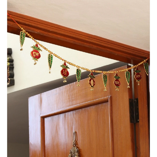 Multicolor Metal Kalash Bandhanwar Door Hanging showpiece - CRAFT WORLD INDIA