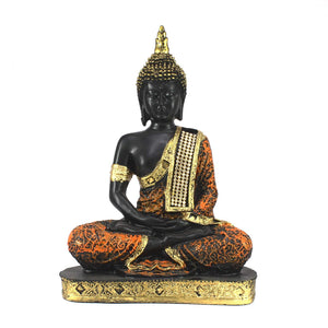 Sitting Buddha Idol Statue Showpiece - in Multi assorted beautiful colours - CRAFT WORLD INDIA
