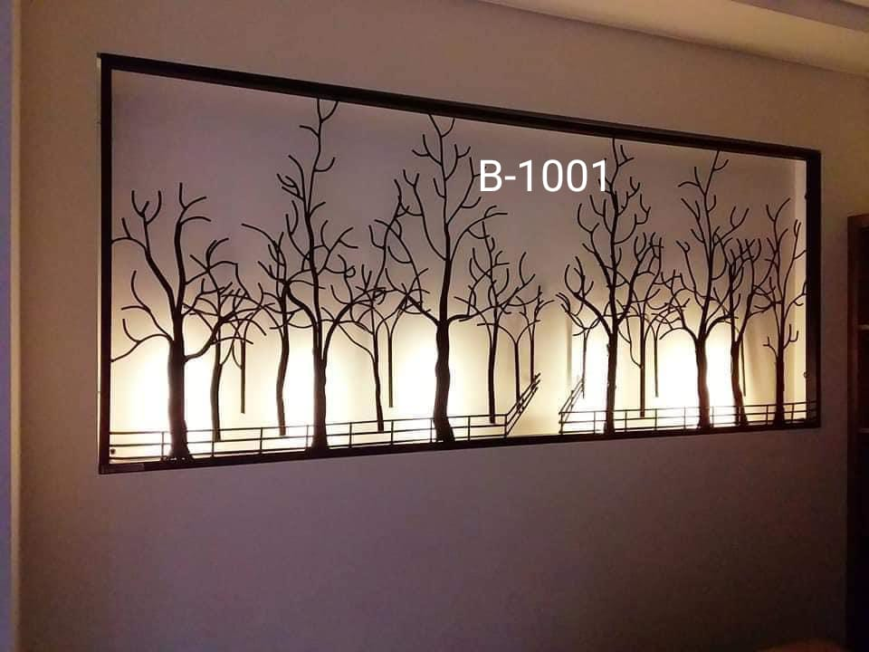 big size LED Metal frame with tree design antique wall hanging for home decor - GreentouchCrafts