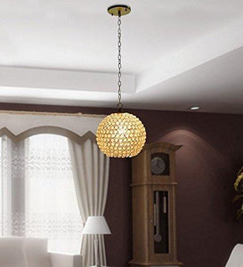 Big size 12 inch diameter Premium Quality Modern Crystal round pendant light for Room Office Home Decor - CRAFT WORLD INDIA