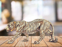Load image into Gallery viewer, Polyresin Tiger Statue for Home Decor , Showpiece Antique Finish for decoration - CRAFT WORLD INDIA