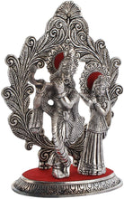 Load image into Gallery viewer, Metal Lord Radha Krishna God Idol Statue Showpiece (Silver, 12.4 x 6.5 x 19.16 cm) - CRAFT WORLD INDIA