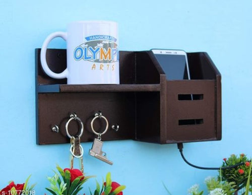 Wooden organizers and holder with key stand - CRAFT WORLD INDIA