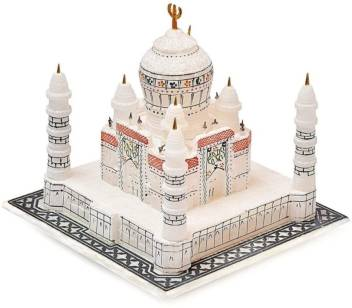 7 Inch Full size Tajmahal replica as gift building cardamom crafts crystal showpiece marble model - CRAFT WORLD INDIA
