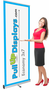 Lowest cost economy retractable banner