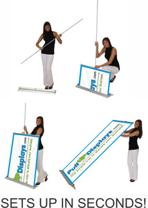 how to set up retractable banner