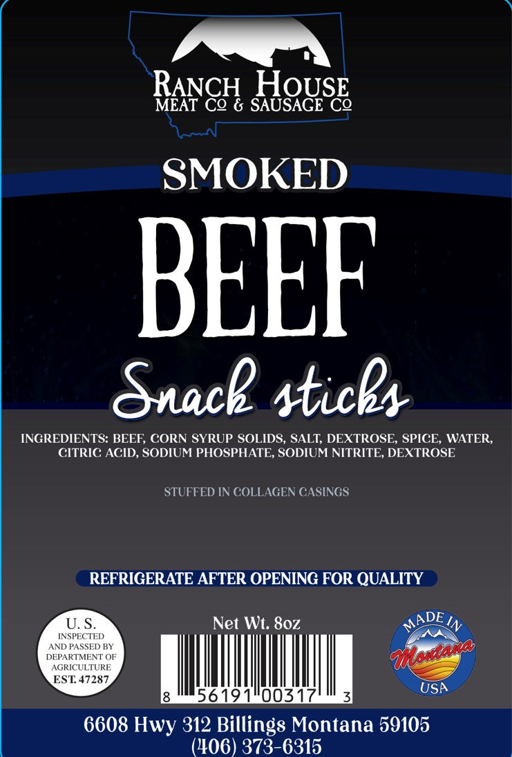 8 ounce Montana All Beef Snack Stick 6 Pack Package