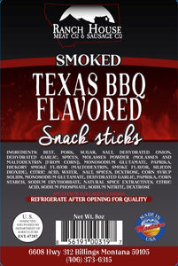 8 ounce Montana Made Texas BBQ Snack Stick 6-Pack Package