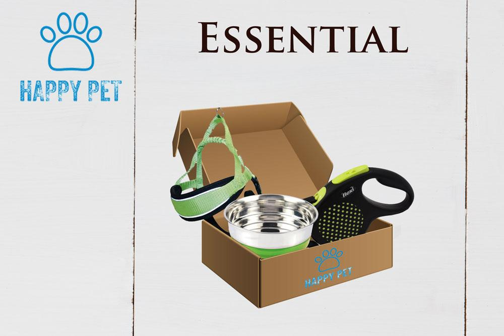Happy Pet Box Essential Accessori Cani Guinzaglio Pettorina Ciotola