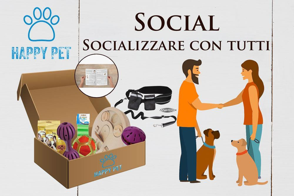 Box Happy Pet Social Insegnare al tuo cane come socializzare