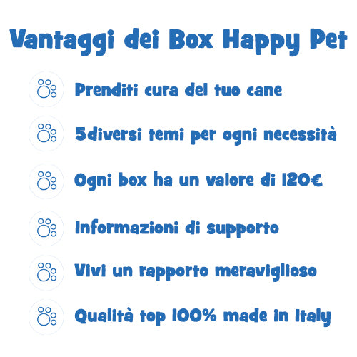 Vantaggi Happy Pet Box Cani