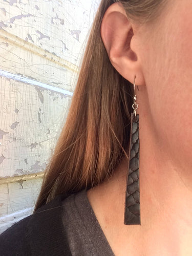 Earrings · Bison Leather · Espresso