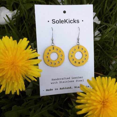 Earrings · Circles · Yellow