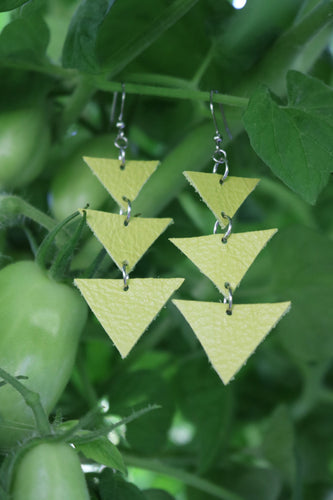 Earrings · Triangles · Handcrafted Leather Accessories · SoleKicks ·