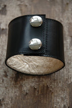 Load image into Gallery viewer, Wrist Cuff · Black & Blue Lake Superior · Handcrafted Leather Accessories · SoleKicks ·