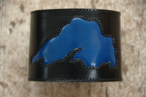 Wrist Cuff · Black & Blue Lake Superior · Handcrafted Leather Accessories · SoleKicks ·