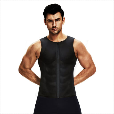 Men's sauna vest - s / black - shapewear