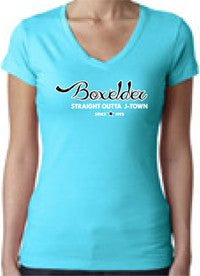 "Boxelder 2013 Reunion ""Straight Outta J-Town"" Women's V-Neck Tee"