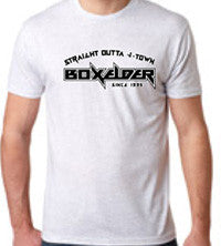 "Boxelder 2013 Reunion Mens T-Shirt ""Straight Outta J-Town"""