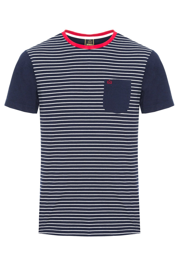 Eaton Navy & White Striped T-Shirt