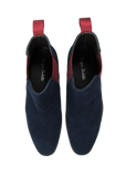 Simon Navy & Red Suede Chelsea Boots