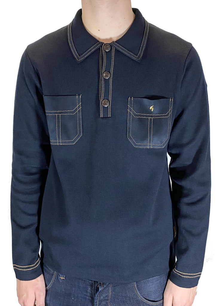 Kingston Navy Limited-Edition Long-Sleeved Polo Shirt