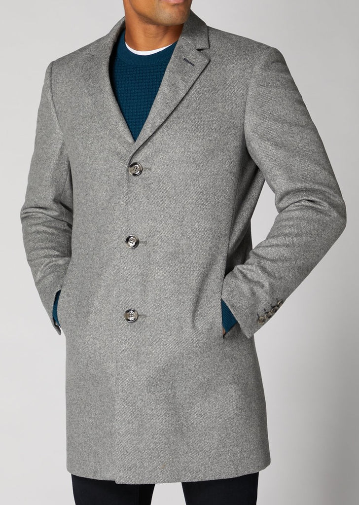 Rueben Light Grey Overcoat