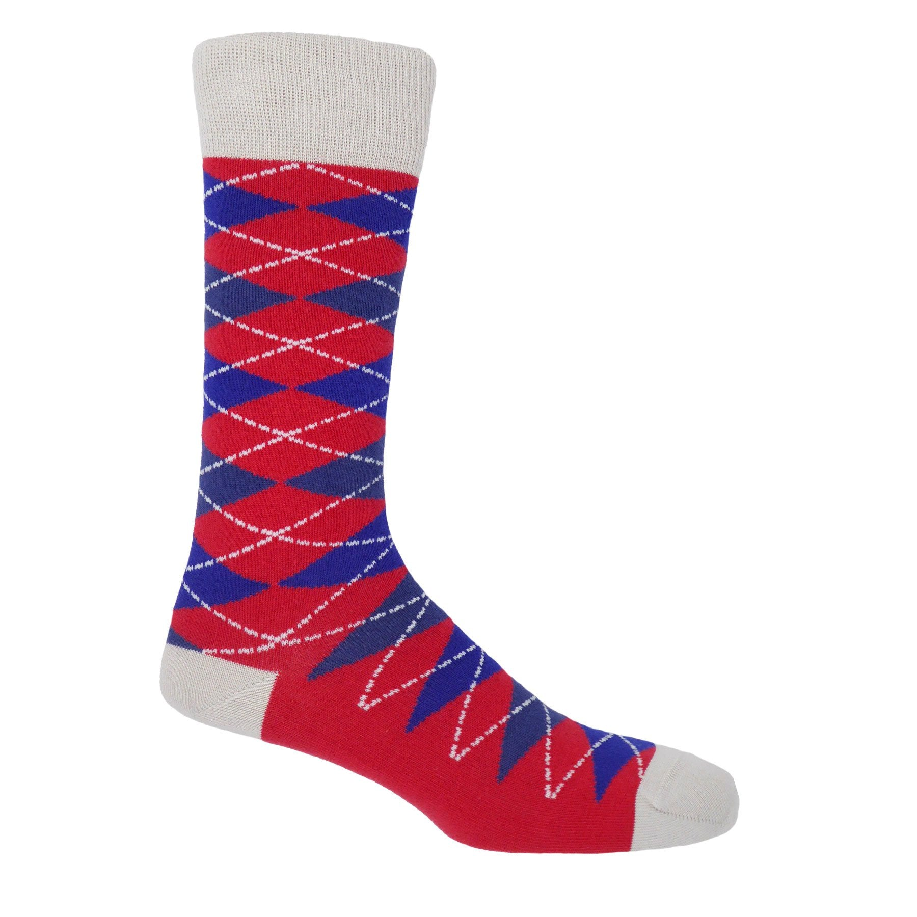 Crimson Argyle Socks