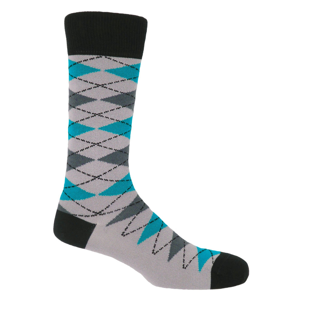 Grey Argyle Socks
