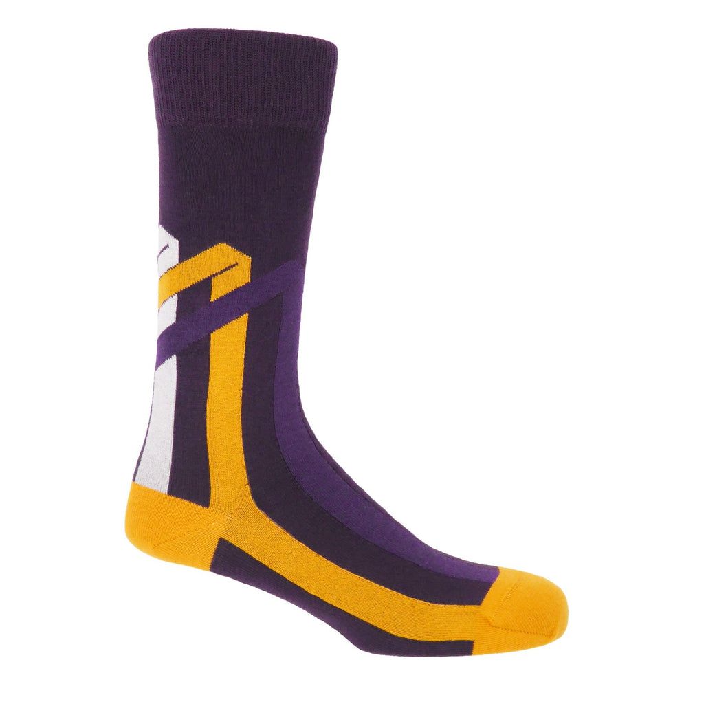 Mauve Ribbon Stripe Socks