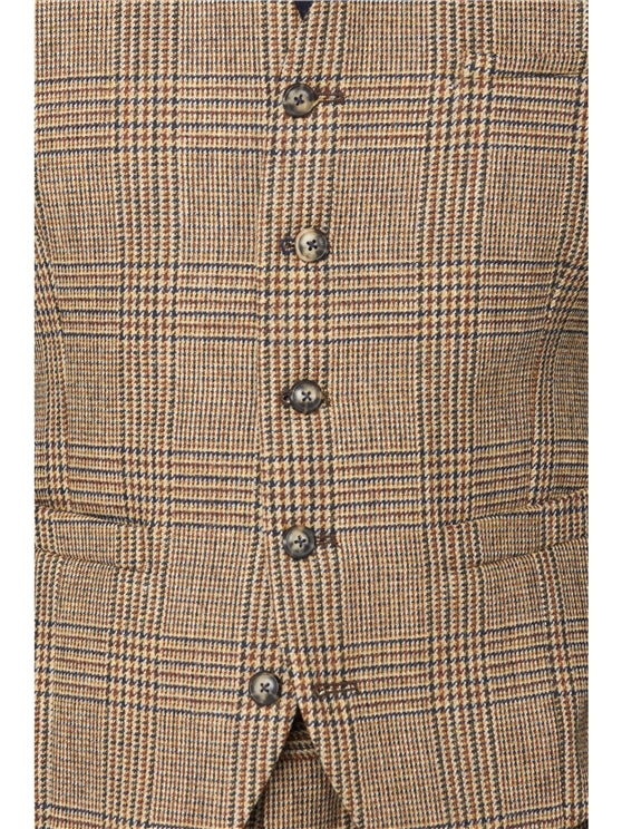 Fawn Glen Check Suit Waistcoat