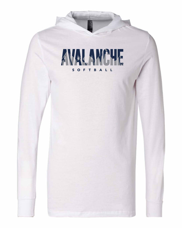 Bloomington Avalanche Inset Hooded Long Sleeve Tee-SILVER OPTION