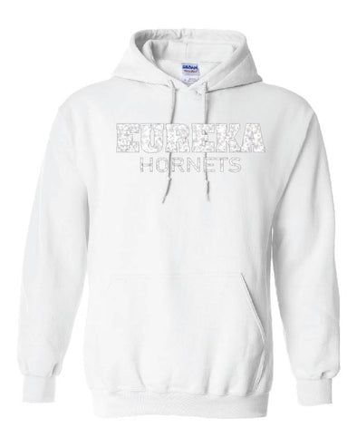 Block Eureka Hooded Sweatshirt GLITTER option