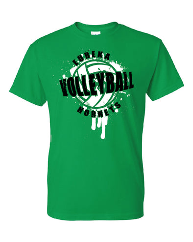 Eureka Hornets Splatter Volleyball T-Shirt